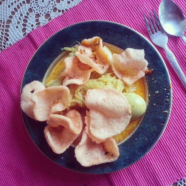 Ketupat Sayur for Breakfast