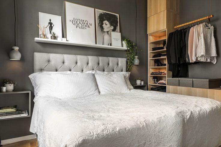 Pici lakás pazar tetőterasszal - 36m2-es kényelmes kis otthon - nőies és markáns elemek - erikolsson.se