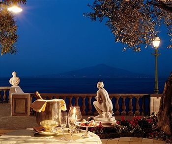 View of Mt. Vesuvius from Grand Hotel Excelsior in Sorrento, Italy