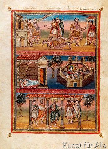 karolingisch Buchmalerei - Geschichte des Paulus / Viviansbibel