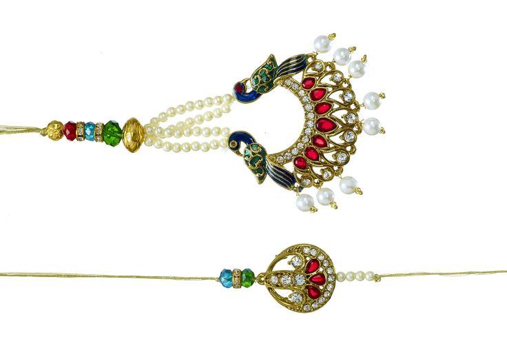 Bhaiya-Bhabhi Peacock Lumba Set.