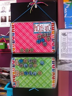 I'd like this for writing process positions- Magnetic lunch choice board