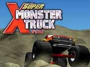 Super Monster Truck Xtreme    As you race your monster truck in the Super Monster Truck Xtreme racing game you are on a mission to keep your truck upright and not flipped over.  You also need to collect as many coins as you can so that you can unlock new monster trucks to take out on the course.  See how quick you can finish each level and how many coins you can collect.  Use your nitro for some extra speed when you need it. Arrow keys to drive.  Space bar to use your nitro.