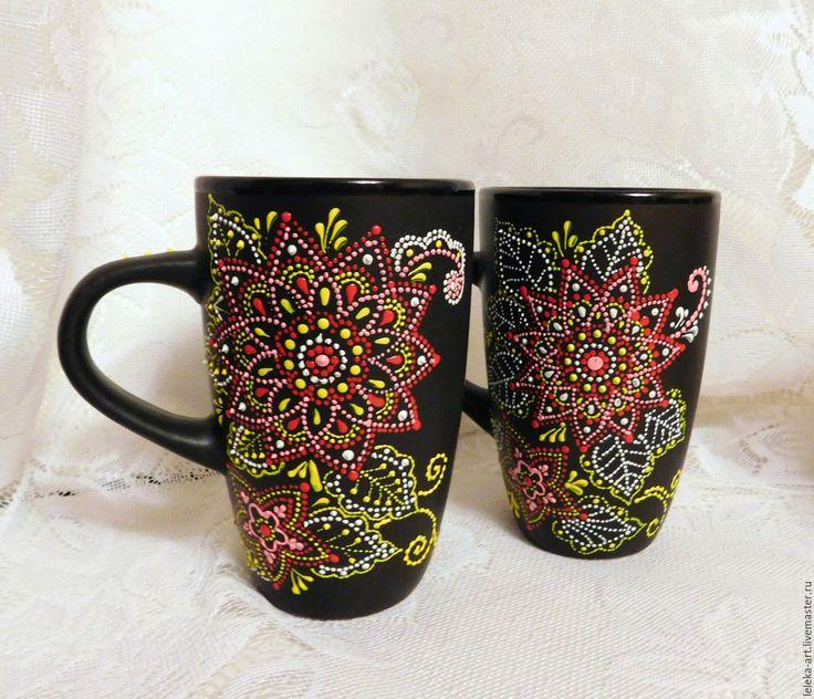 """Купить Кружка """"Диковинка"""" - комбинированный, цветной, диковинка, кружка чайная, чашка, бокал, чайный"""