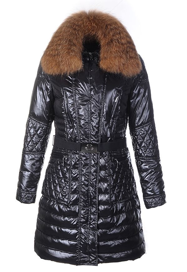 Moncler Maillol Belted Down Black Coat Women Outlet