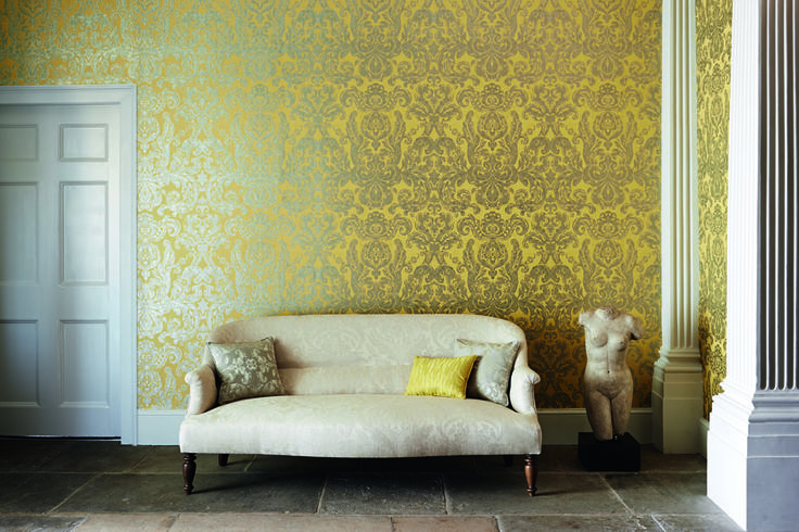 Brocatello wallpaper by @Zoffany available from Rodgers of York #wallpaper #interiors