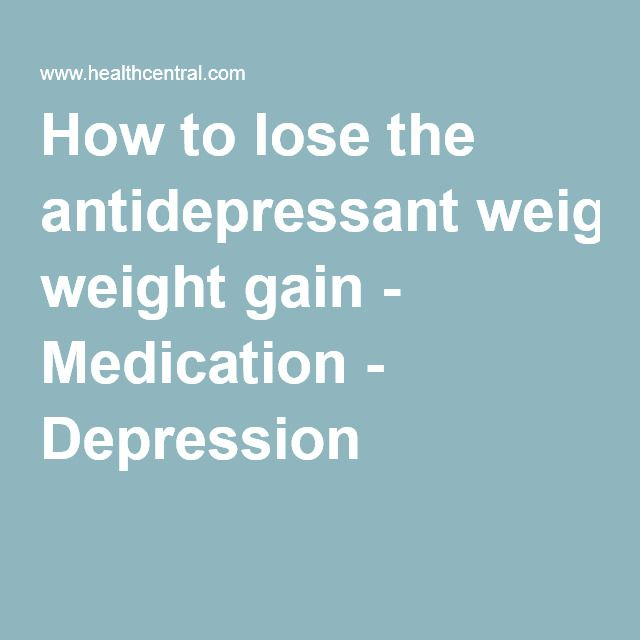 weight loss with anxiety meds