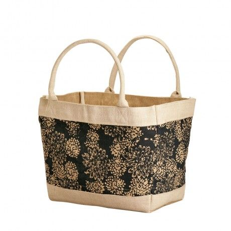 Floral Jute Shopping Bag - Bags & Totes - Scarves & Bags - Lots of Products to choose from on this site - all Fair Trade - all helps different Villages