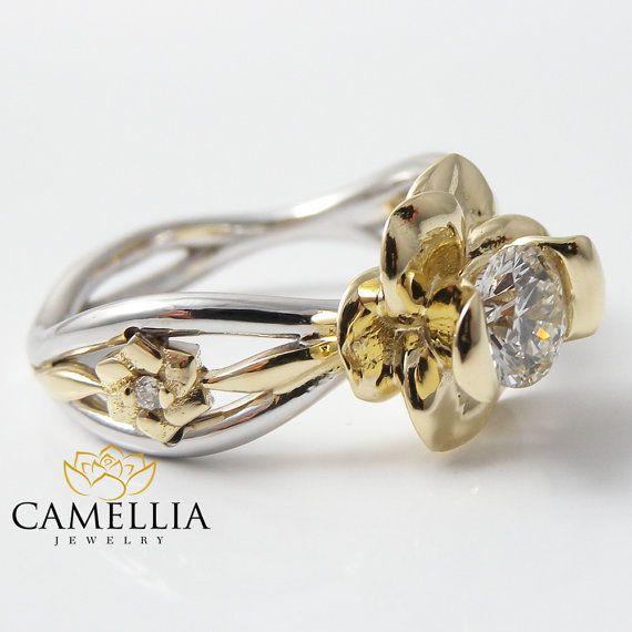 1/2 carati diamante anello di fidanzamento 05 di CamelliaJewelry
