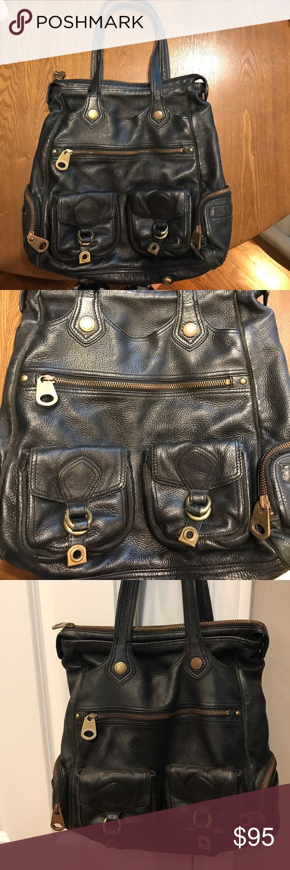 Marc by Marc Jacobs oversized handbag Black pebbled leather with multiple pockets and lots of storage space, great for work or family! Marc By Marc Jacobs Bags Totes