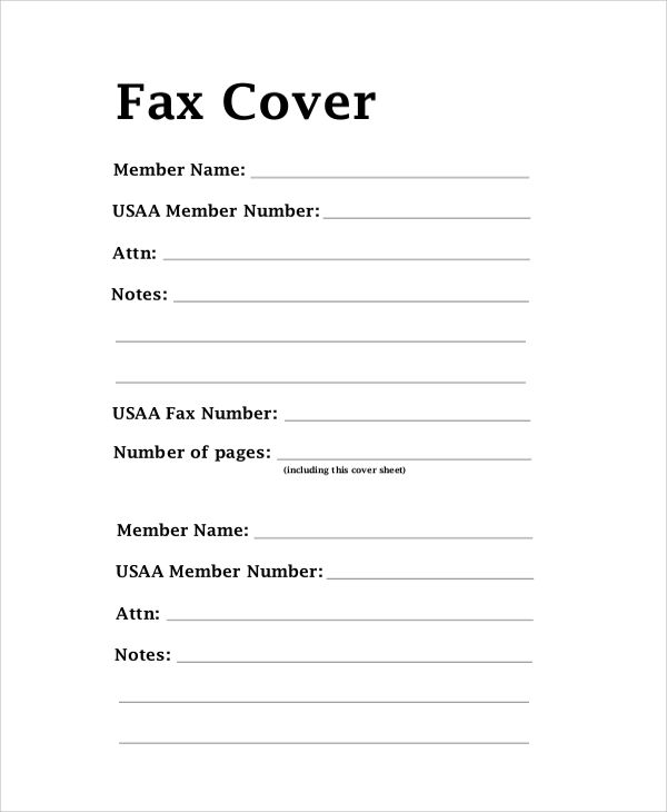 Pin On Fax Cover Sheet