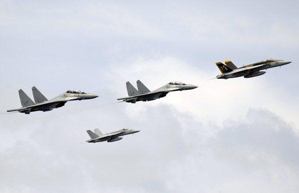 U.S. Navy ..  F-18Es .. and Royal Malaysian Air Force
