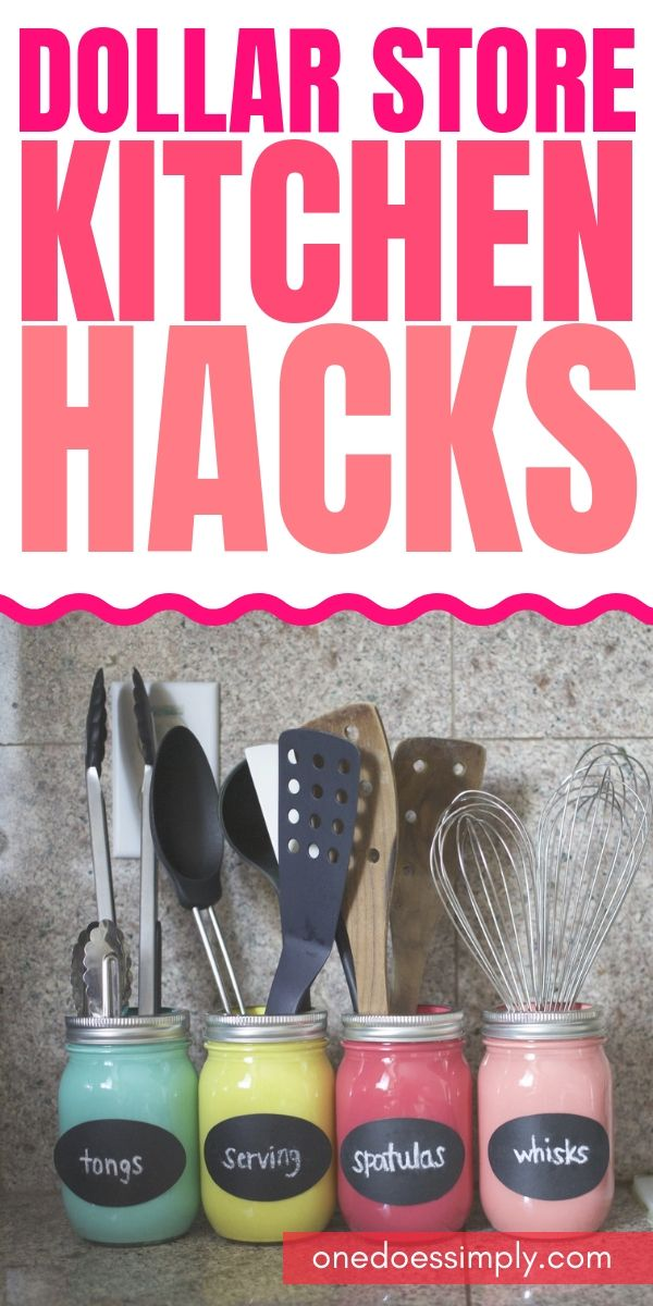 Dollar Store Kitchen Organization Hacks You Can DIY On A Budget