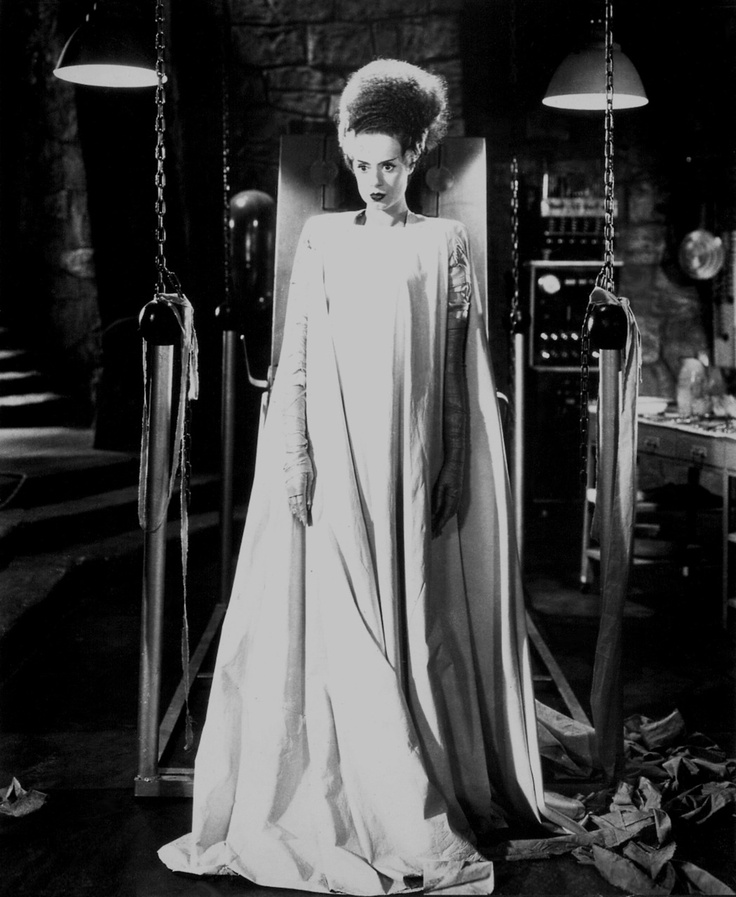 Elsa Lanchester, Bride of Frankenstein I like the way she looks, (I'm crazy!) but she was so snotty!