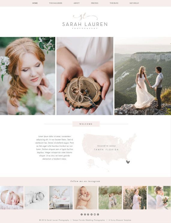 Wix Website Design Wedding Photography By Sunnyblossomdesigns Photography Website Templates Photography Website Photography Website Design