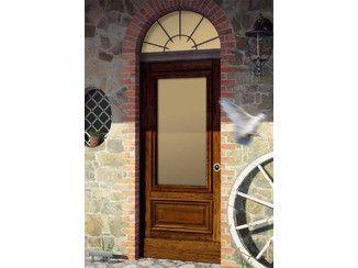 Porta d'ingresso blindata per esterno con pannelli in vetro META 84 - METALMECCANICA UMBRA