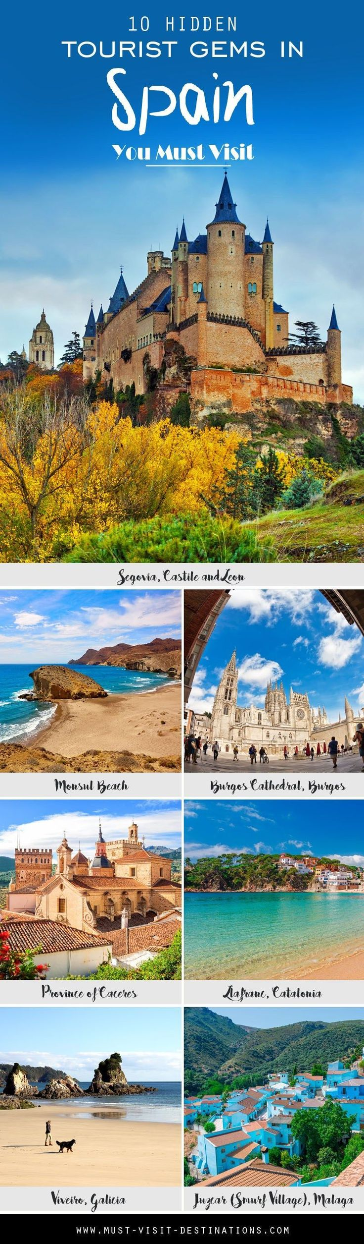 10 Hidden Tourist Gems In Spain You Didn't Know About #travel #spain #travelinspain