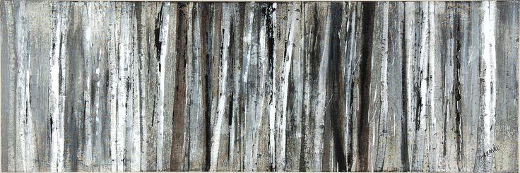 """""""Birch Blur"""" by Braski  60 X 20 ''"""