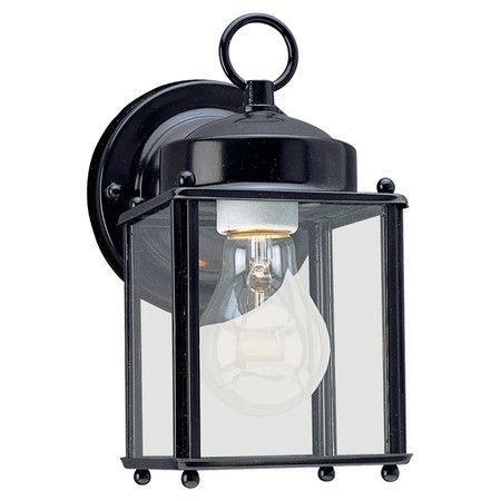 Illuminate your porch, patio, or veranda with this eye-catching wall lantern, showcasing a classic silhouette and black finish.  Pro...