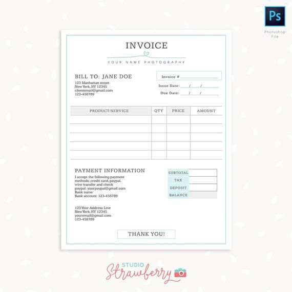 Invoice Template Simply Chic This Photography Invoice Template Will Inform Your Client Abou Photography Invoice Photography Invoice Template Invoice Template