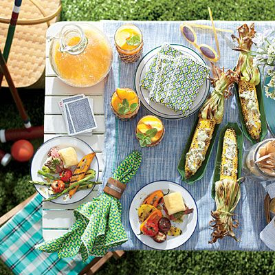 The Prep-Ahead Cookout Menu | North Carolina native and Grill Girl Eilzabeth Karmel shares a make-ahead menu that proves firing up the grill is the easiest way to pull off an elegant summer gathering. | SouthernLiving.com