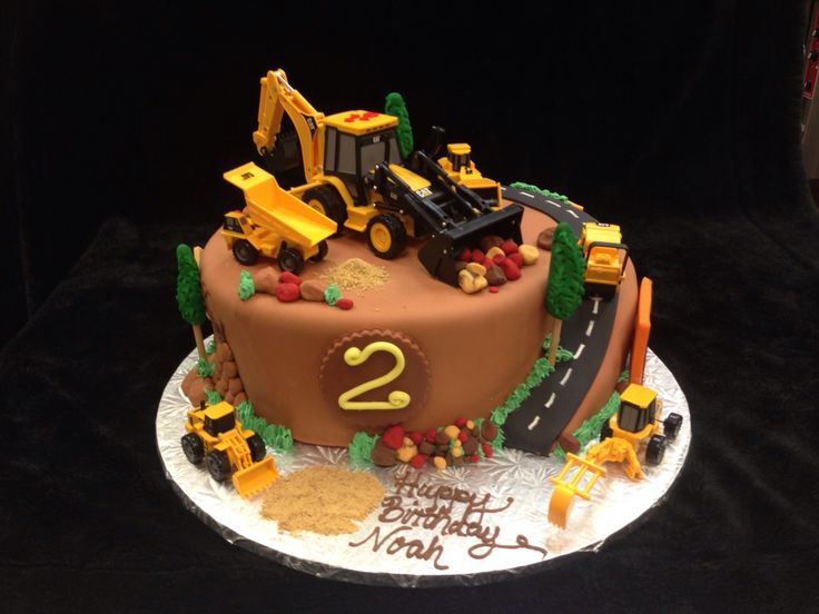 Construction Site Birthday Cake Boy Cakes Pinterest