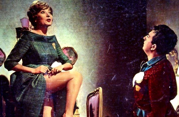 """Lauretta Masiero and Alberto Lionello in Mario Amendola's comedy """"Cacciatori di dote"""" (Italian title: """"Dowry Hunters""""; 1961)."""