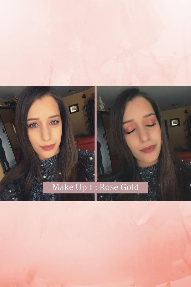 #maquillage #tuto #makeup #rosegold #gold #blog #beauté