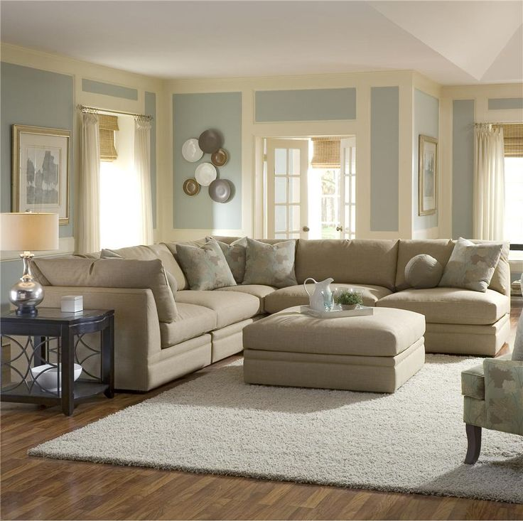 Wolf furniture melrose place four piece sectional with for Sectional sofas wolf furniture