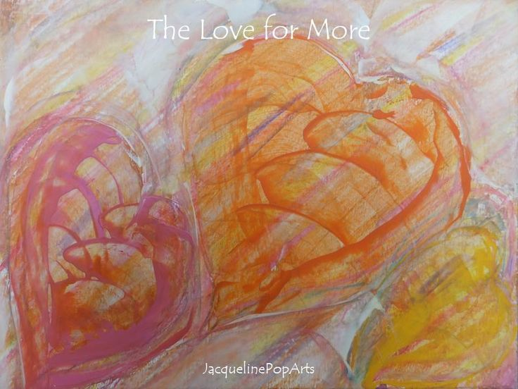 The Love for More, encaustic art by JacquelinePopArts - Art with a Heart - Valentijn - Valentines Day