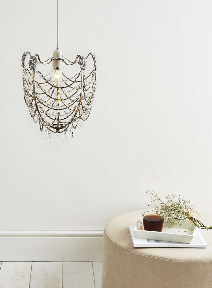 Chrome Everly Easy Fit Ceiling Light - All Home u0026 Lighting Sale - Sale - BHS  sc 1 st  Pinterest & 48 best HOME LIGHTING - CRYSTAL CHANDELIERS images on Pinterest ... azcodes.com