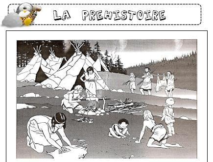La préhistoire + autres dossiers su les périodes historiques pour les CE1