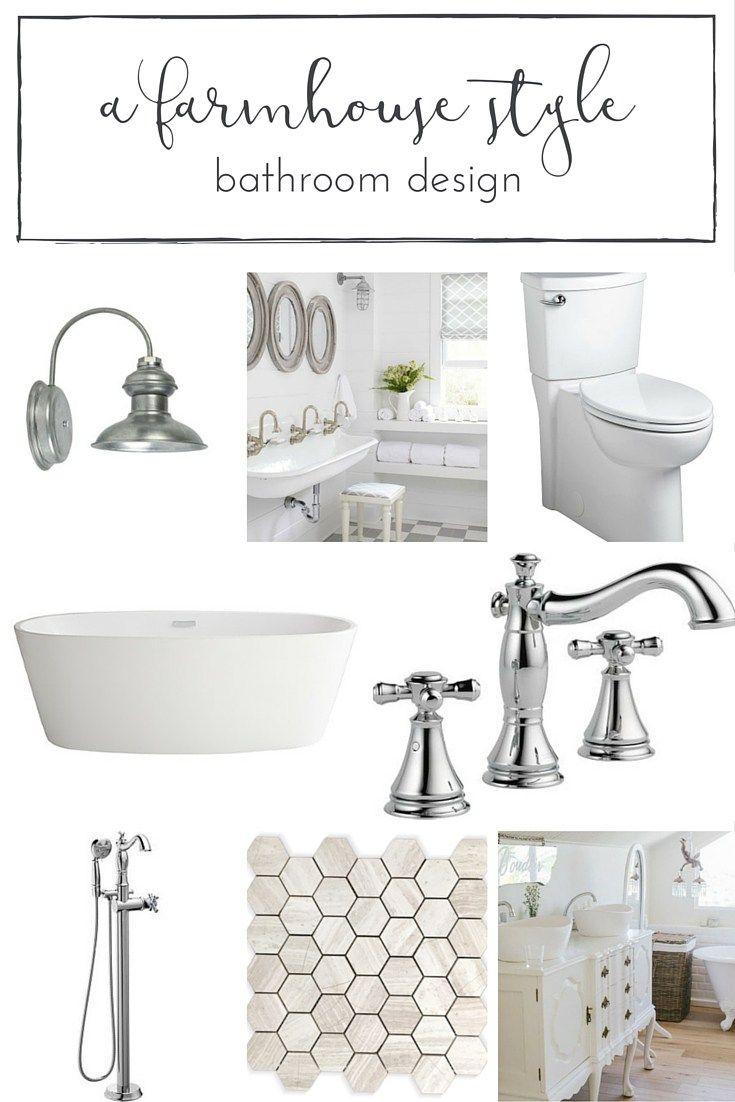 A dreamy farmhouse style bathroom design sure to inspire!