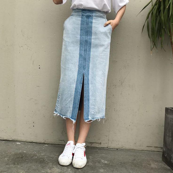 2017 kobiety odzież wysokiej talii kontrast kolor szczeliny myte denim spódnica Kobiet mody schudnięcia ołówek dżinsy długie spódnice 6295 # w 2017 kobiety odzież wysokiej talii kontrast kolor szczeliny myte denim spódnica Kobiet mody schudnięcia ołówek dżinsy długie spódnice 6295 # od Skirts na Aliexpress.com | Grupa Alibaba