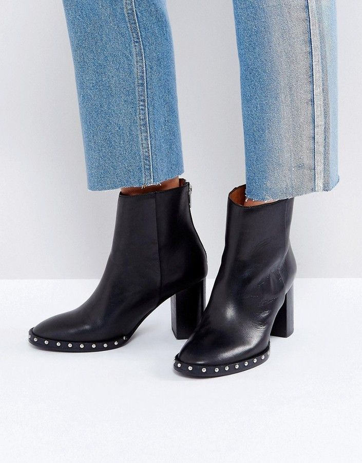 AllSaints Ines Studded Heeled Boot