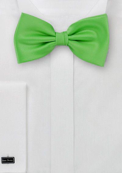 Herrenfliege Poly-Faser grün