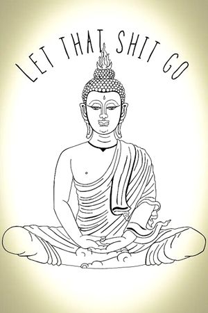 Meditation Fun Cartoon:  Let that shit go  (yoga fun, humour & laughter) .... #yogafun #yogacartoon #yogahumour #yoga #om #yogahumor