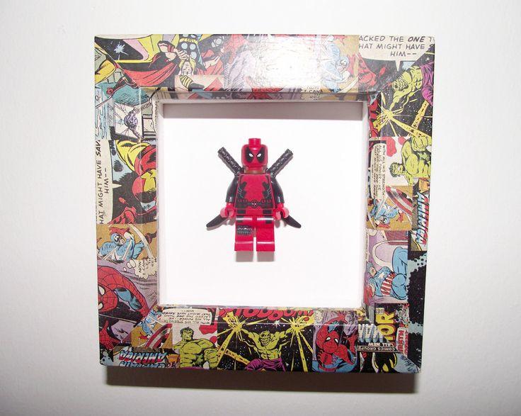 Framed Deadpool Figure - Lego Inspired Art Piece with Marvel Frame   eBay