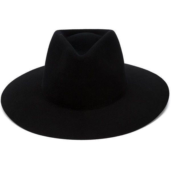 Rag & Bone 'Range' Fedora found on Polyvore featuring accessories, hats, black, wool fedora, woolen hat, wool hat, wool fedora hat and fedora hat