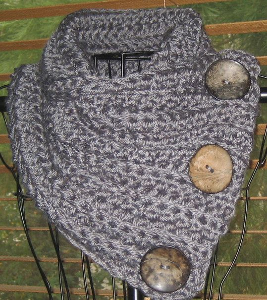 Crochet Scarf Pattern With Button : Scarf PATTERN ONLY....Scarf Cowl Neck Warmer Neckwarmer ...