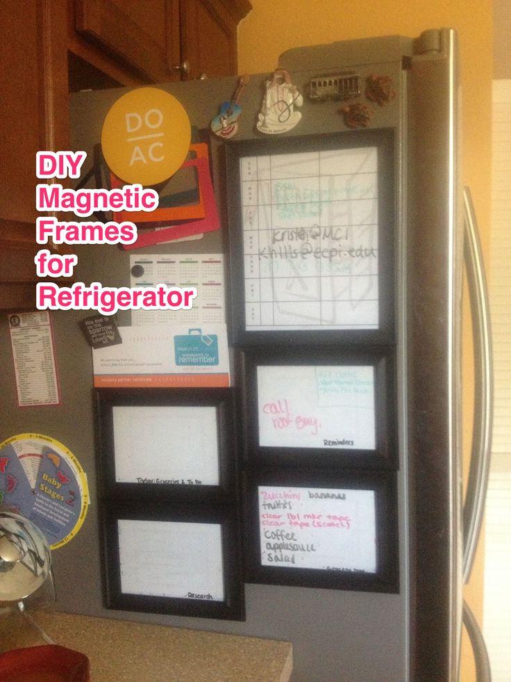 Diy Magnetic Frames For Refrigerator Refrigerators
