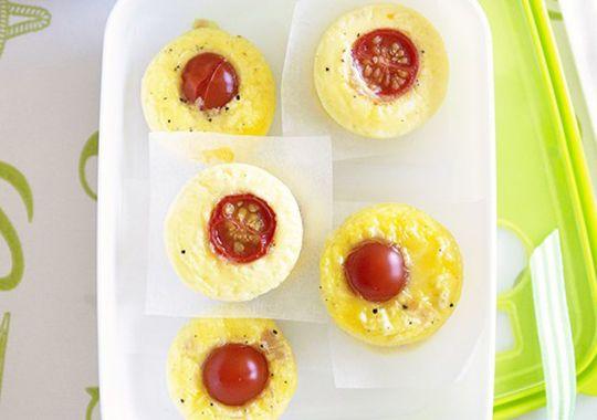 Mini Ham, Cheese & Tomato Frittatas