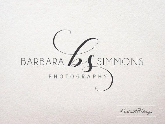 Signature logo, Initials watermark, Photography logo, Premade, Logo design, Black and white, Minimal, Stylish, Watermark 331
