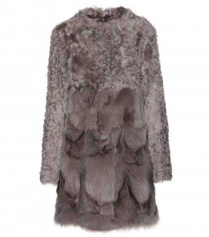 Сочетание двух типов меха! ***** Meteo by Yves Salomon - Shearling and fox fur coat - mytheresa.com GmbH