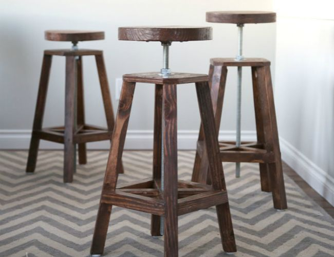 #DIY Bar Stools - 5 Ways to Build Yours Your home bar isn't fully stocked for the holiday season until it features one of these DIY #barstools.