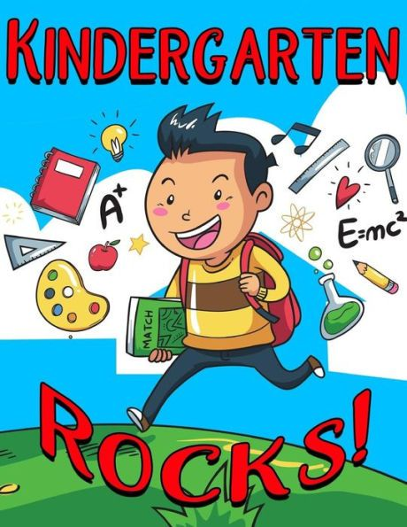 Kindergarten Rocks!: 120 Page Ruled School Composition Kids Notebook Journal For Kindergarten Boys -