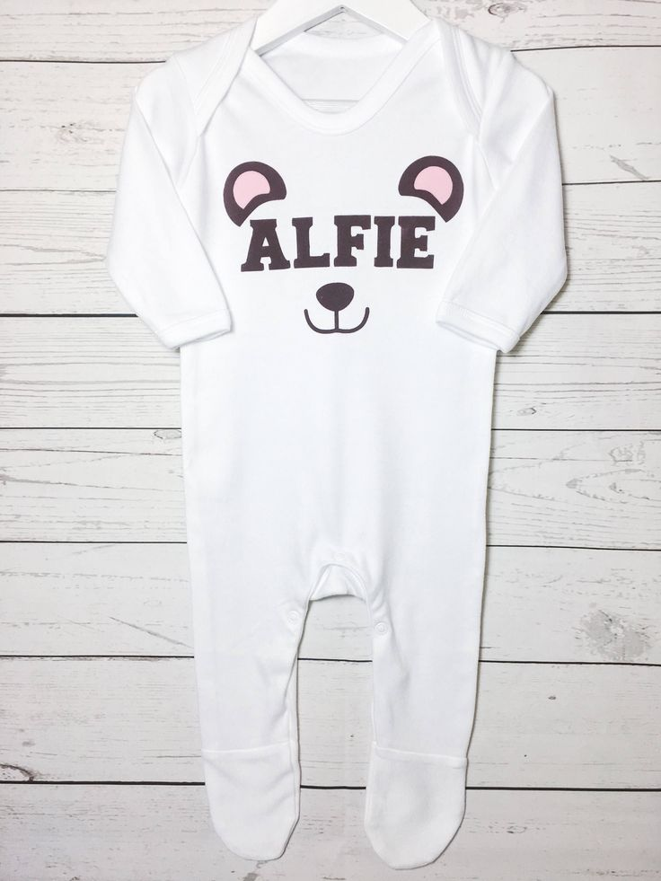 Best 23 personalised baby clothes images on pinterest personalised personalised baby sleepsuit romper with cute bear baby gift with name and bear customised bear babygrow babyshower newborn gift negle Gallery
