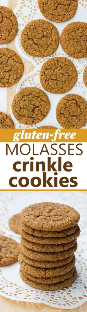 Gluten-Free Chewy Molasses Crinkle Cookies! Chewy, sparkling with ...