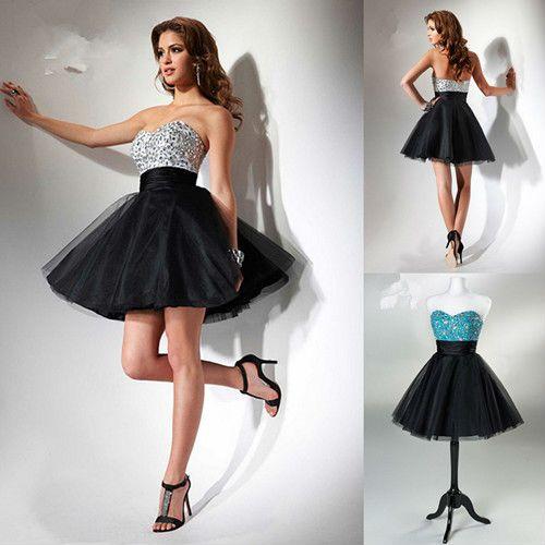 sweetheart a line black tulle graduation gown mini glitter dress light blue homecoming dresses baby blue short prom dress