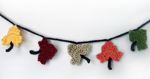 free fall leaves crochet patterns | ... Crochet Pattern: Fall Leaf Garland - Crochet Patterns, Tutorials and